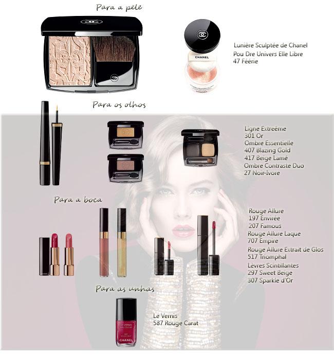 Chanel, maquiagem, maquiagem da Chanel, Coleção de maquiagem de Natal Chanel, esmaltes da Chanel, dica de presentes, dica de natal, Beleza, dica de beleza