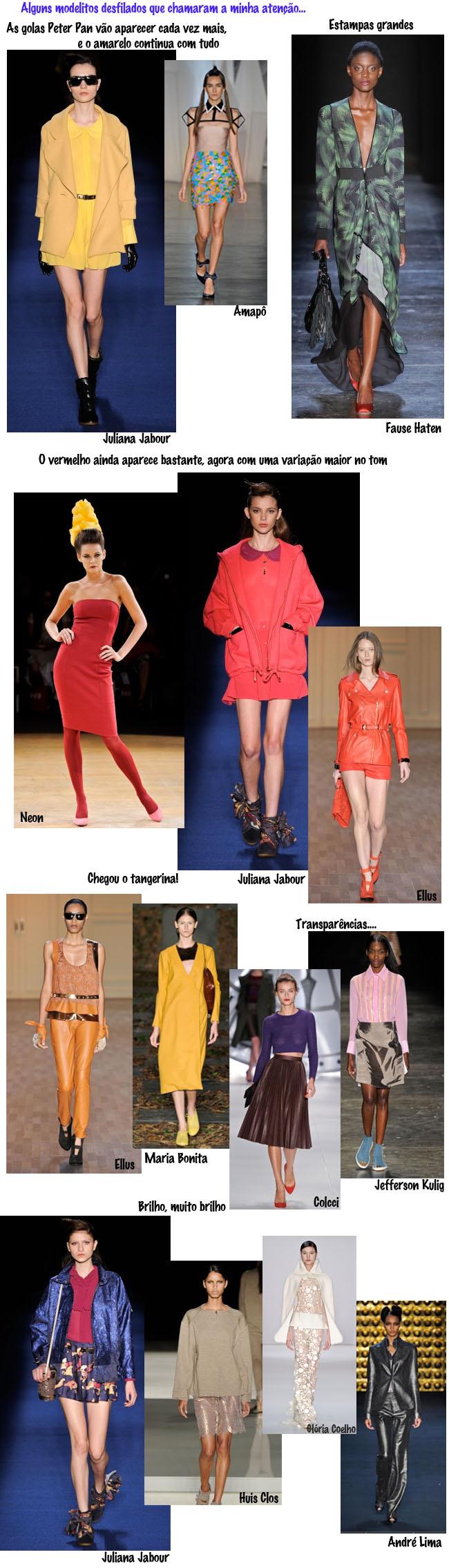 desfiles SPFW, QG Fhits, semana de moda de Sãp Paulo, como usar brilho, o que desfilou na passarela, brilho, casaco de brilho, como usar tangerina, transparencias, jaqueta vermelha