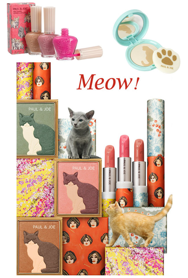 Cat, meow, paul & Joe, maquiagem, maquiagem Paul & Joe, Kitten Collection, Kitten Collection Paul & Joe, make, Kitten Collection 2012, viagens