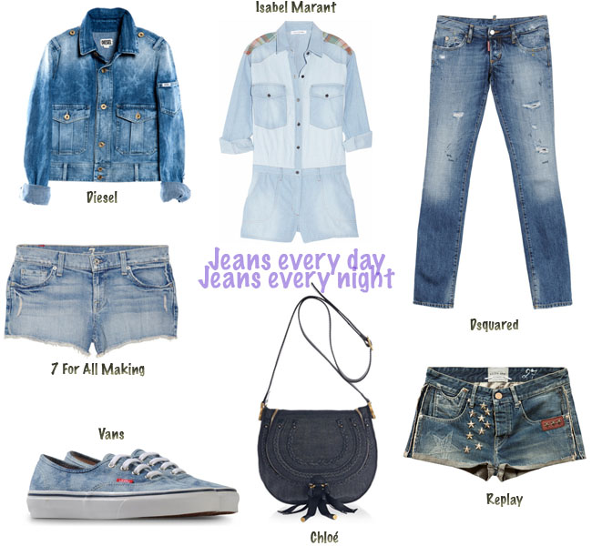 jeans, look jeans, camisa jeans, shorts jeans, jaqueta jeans, tenis vans, vans, chloé, shorts replay, macaquinho jeans, roupa isabel marant, isabel marant