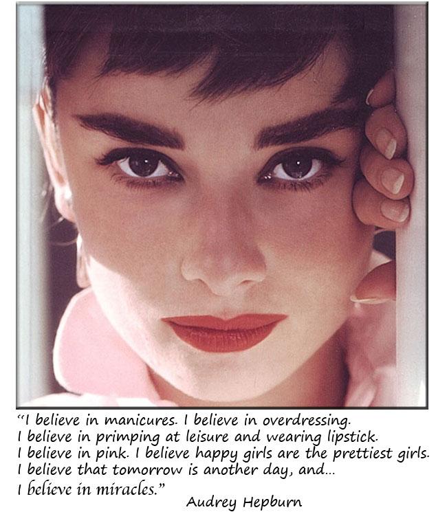Audrey Hepburn, frases, maquiagem, inspirações
