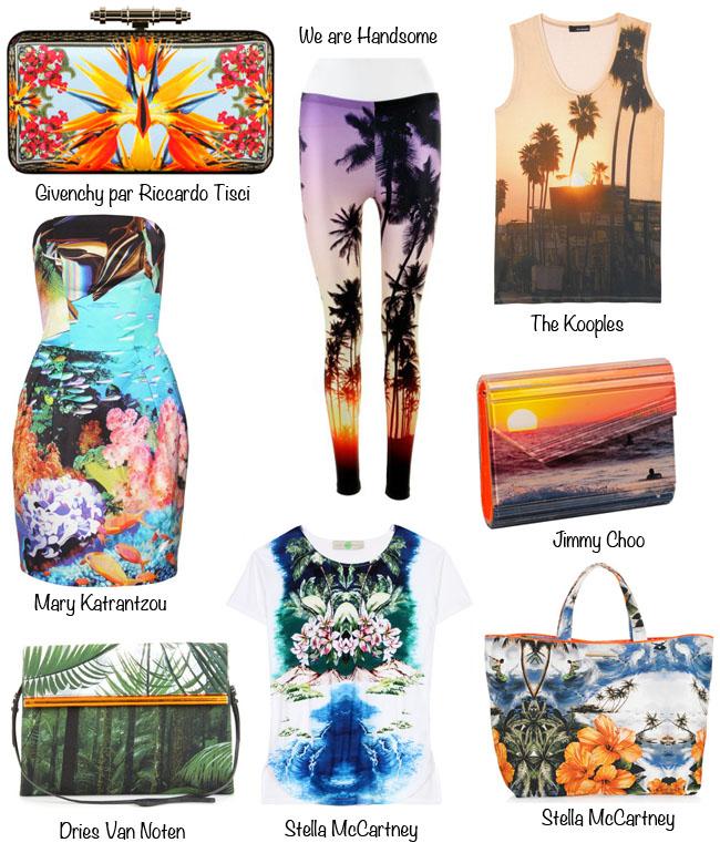 moda, moda do cartao postal, shots com sol, stela mcCartney